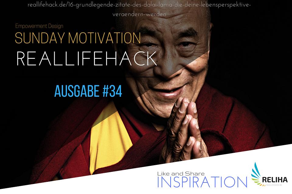 16 grundlegende Zitate des Dalai Lama, die deine Lebensperspektive verändern werden