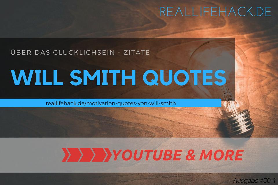 MiMDAY – Motivation Quotes von Will Smith | über das Glücklichsein